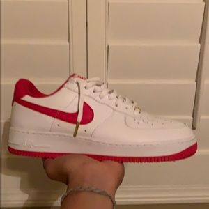 White and Red air force one's
